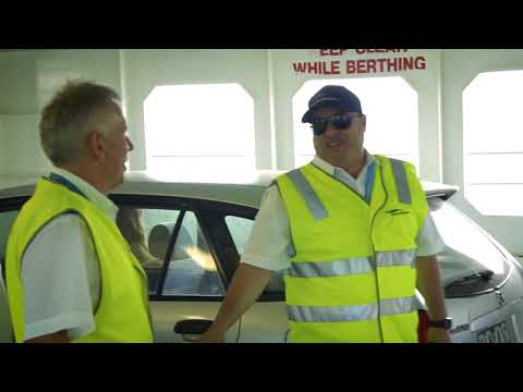 Frank experiencing his dream job of working at the Ferry!