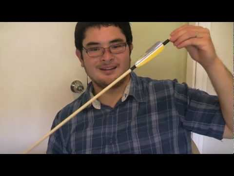 How to Make a Simple Dowel Arrow with Duct Tape Fletching Part 3