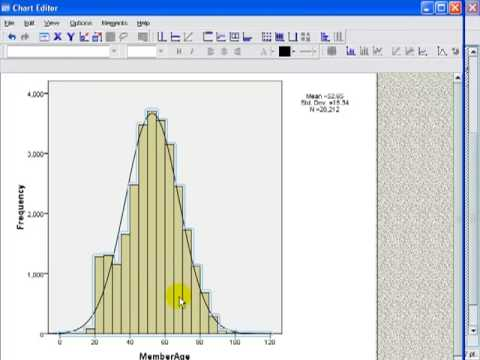 Creating a histogram in SPSS and binning the data