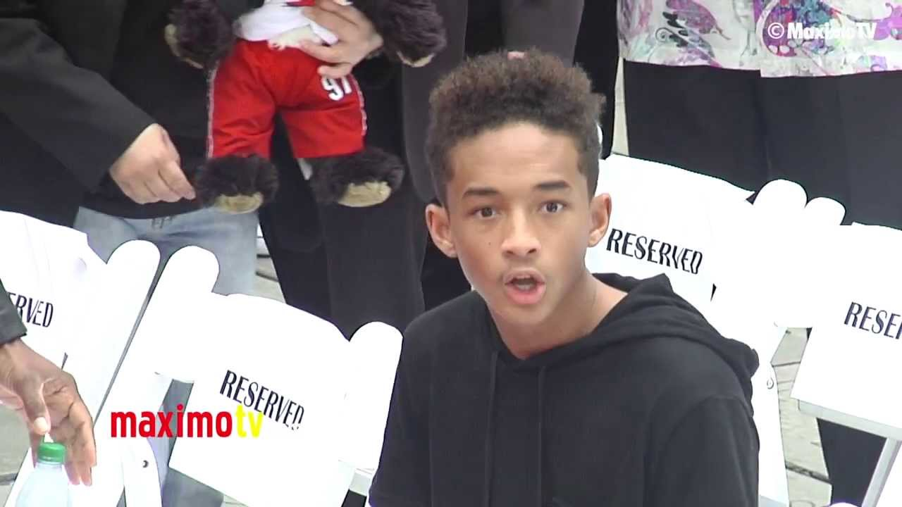 Jaden Smith SURPRISED REACTION at Jackie Chan Handprint and Footprint Ceremony