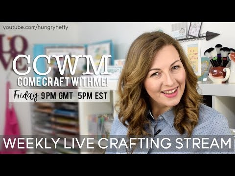 Come Craft With Me - Live Stream - Pinata Card using Lawn Fawn and distress inks