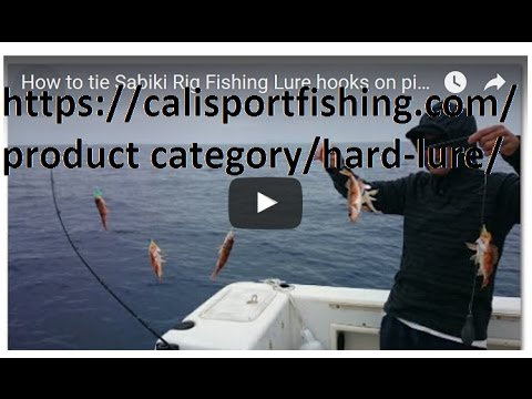 How to tie Sabiki Rig Fishing Lure hooks on pier or on boat