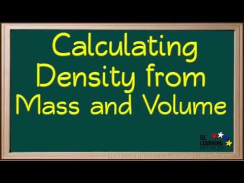 BCLN - Calculating Density from Mass and Volume