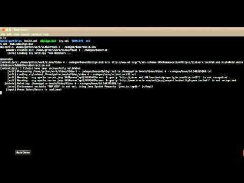BiBiServ Video Tutorial (4) - Generate an application project
