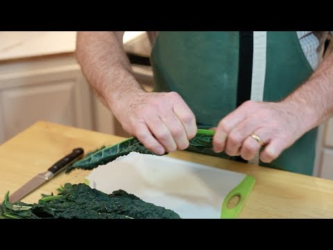 Removing Kale Stems In Record Time