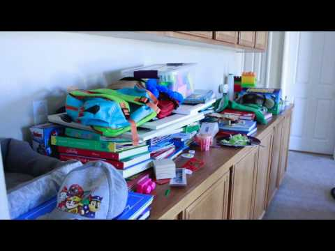 September 2016 Cleaning both kids rooms & decluttering