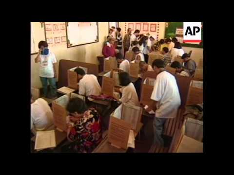 PHILIPPINES: VOTING BEGINS IN NATIONAL ELECTIONS