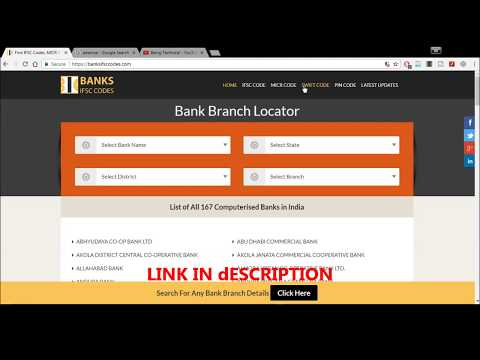 How to find Swift code , MICR and IFSC Code Of any Bank | BeingTechnical|