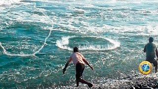 Lances de atarraya en el mar ✔