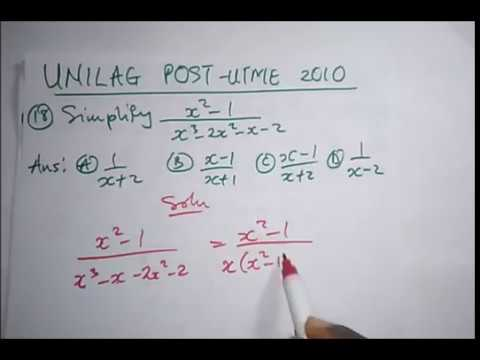 UNILAG Post UTME Past Questions Solved (2010 Maths) - Part 2