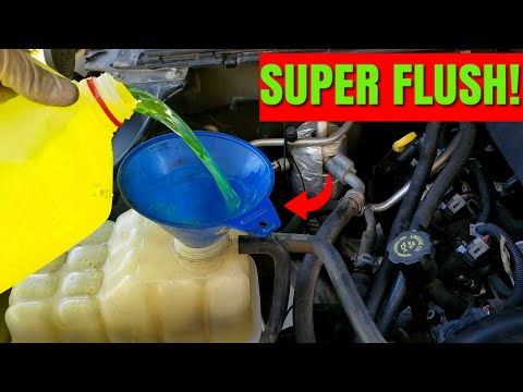 How To Flush Your Coolant System!   Chevy Silverado Coolant Change Drain & Fill