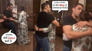 Salman Khan turns EM0TI0NAL Dancing With M0ther Salma Khan inside their house Galaxy Apts,Bandra