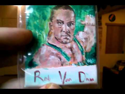 RVD painting on sketch card canvas