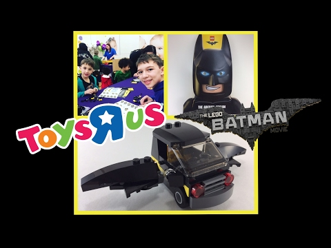 LEGO BATMAN MOVIE TOYS R US BUILD AND TAKE EVENT EMMET'S BATMOBILE