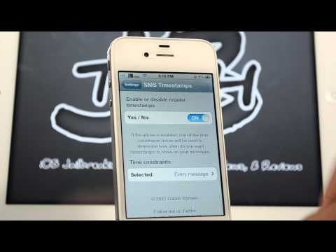 SMS Timestamps   Cydia Tweak: Show Date/Time of Messages Sent/Received