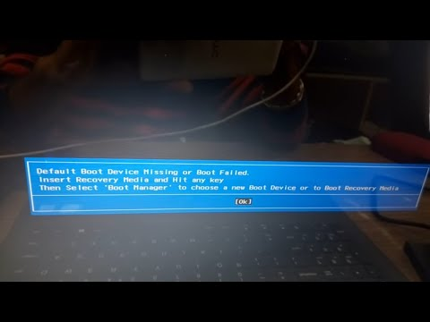 default boot device missing or boot failed lenovo 2017