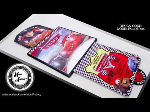 Disney Cars Double Slider Invitation Card (Tutorial/D.I.Y.)
