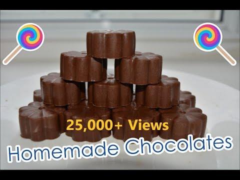 Homemade chocolate | Make chocolates with Cocoa Powder | How to make Homemade Chocolates