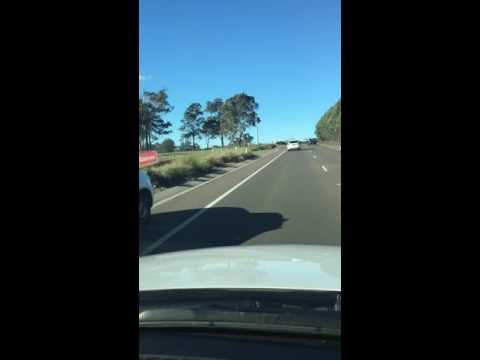 Sunny winter driving in Sydney
