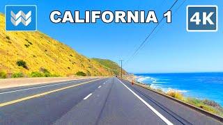 【4K】Scenic Drive: Point Mugu - Malibu - Santa Monica via Pacific Coast Highway / California 1 South