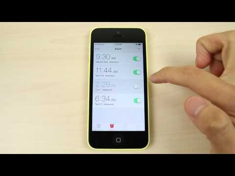 How to set the alarm on Apple iPhone 5C
