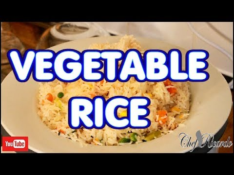 How to cook your vegetable rice in the rice cooker,AT HOME !!