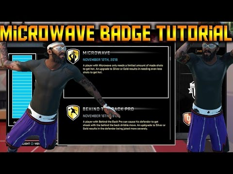 NBA 2K16 How To Get Microwave Badge EASY Tutorial