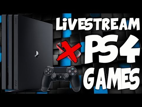 How to LIVESTREAM on PS4 (NO CAPTURE CARD! EASY!)