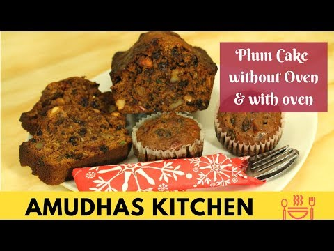 Plum Cake in Tamil | Rich Fruit & Nut Cup Cake | Last Minute Christmas Cake