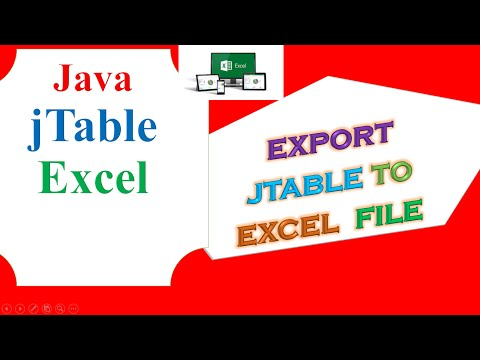 Java Excel Ep.02 -  Export JTable to Excel Programmatically