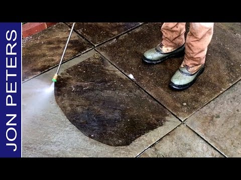 Power Washing my Patio