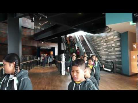 Thai Tims at the Titanic museum, Belfast.