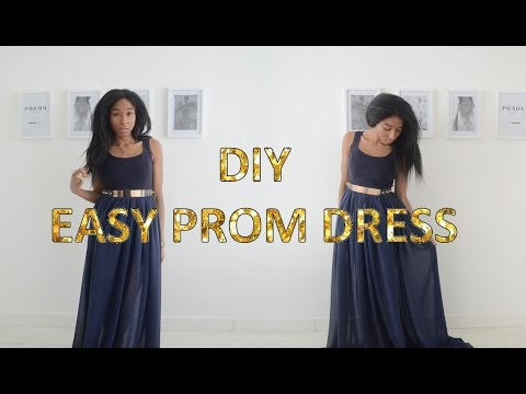 DIY TRANSFORMATION | QUICK & EASY PROM DRESS/GOWN 2016