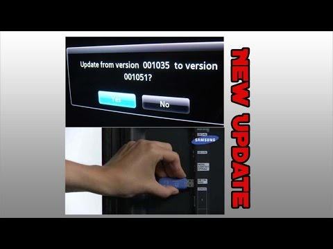How To Upgrade Firmware Samsung Smart TV Via USB