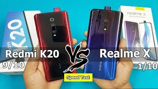 Redmi K20 vs Realme X Speed Test / Hardware Comparison    Antutu benchmark Scores/ Rs.21999 vs 16999