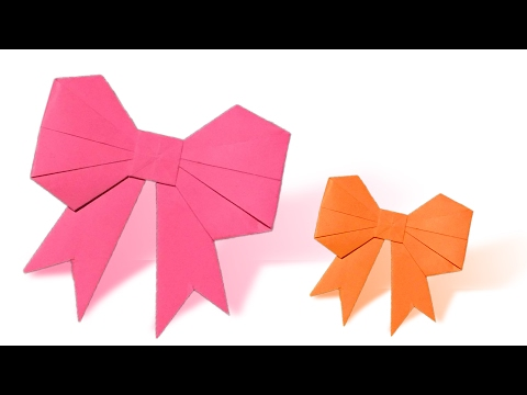 How To Make an Origami Bow\Ribbon Step by Step | Paper Bow\Ribbon Tutorial | Origami VTL