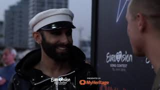 Live from TLV! Meet and Greet at the Eurovision village with Eurovision Legends Conchita Wurst
