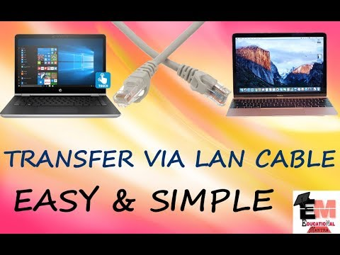 Learn How To Transfer Data Via LAN CABLE | Fast Speed,Without External Storage