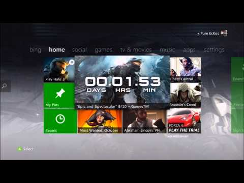 Tutorial: How To Get To Download History On The NEW Xbox360 Dashboard 2012!