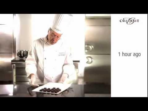 Callebaut   The chocolate hardens very slowly
