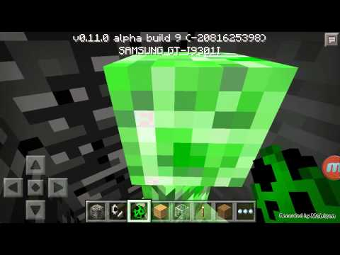 The hide with a creeper minecraft PE