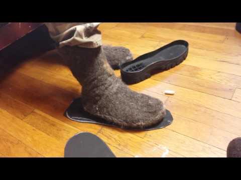 Making custom soles for felt boots