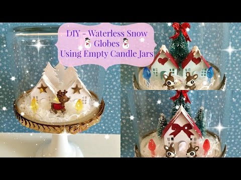 DIY~Waterless Christmas Snow Globes [Process Video]