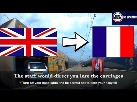 Eurotunnel Folkestone To Calais By Car * UK To France Step By Step Boarding 2018