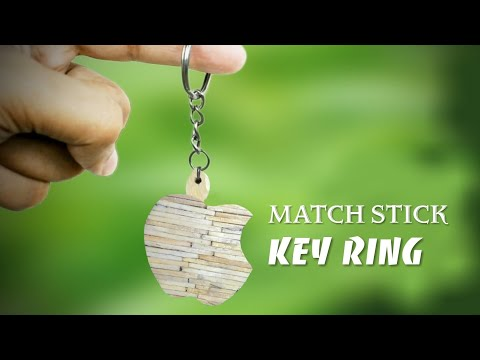 How to make a Key Ring ( Made With Match Sticks! ) Matchstick Art & Crafts by 360 DIY