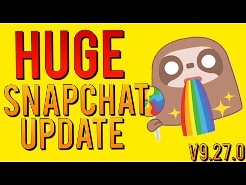 HUGE SNAPCHAT UPDATE v9.27.0 - Chat 2.0, Video/Voice Calls, Stickers, and MUCH MORE(Tips and Tricks)