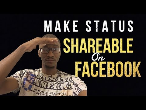 How to make your status shareable on facebook 2017