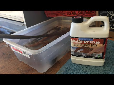 Metal Rescue Rust Remover Bath Review and Demo
