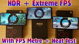 Redmi K20 Vs Poco F1 Vs Redmi K20 Pro : Game Performance Test and Heat Test