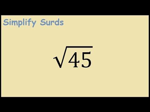 Sqrt(45) Simplifying Surds